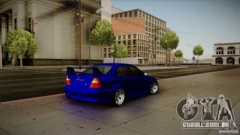 Mitsubishi Lancer Evolution lX para GTA San Andreas traseira esquerda vista