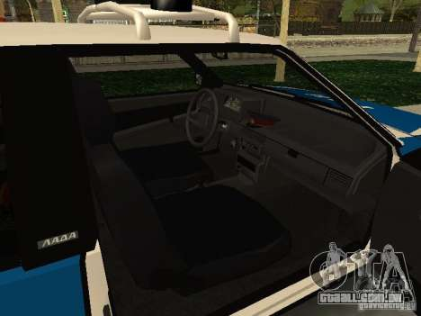 VAZ 2108 polícia para GTA San Andreas vista direita