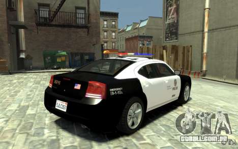 Dodge Charger LAPD V1.6 para GTA 4 vista direita