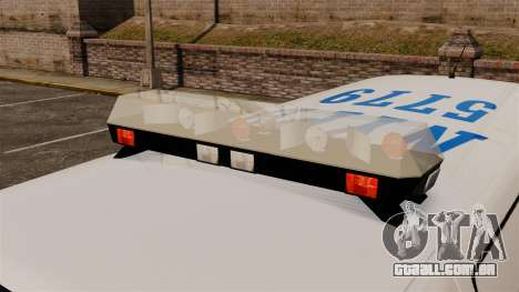 Polícia Speedo para GTA 4 vista de volta