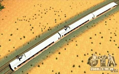 ICE3 Train para GTA San Andreas traseira esquerda vista