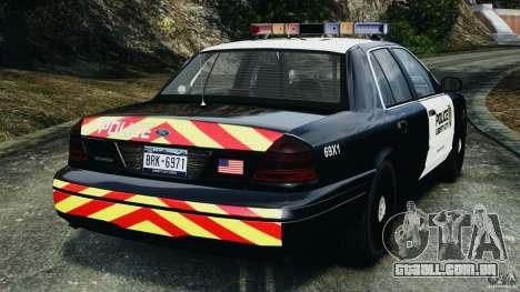 Ford Crown Victoria Police Interceptor 2003 LCPD para GTA 4 traseira esquerda vista