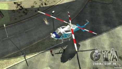 NYPD Bell 412 EP para GTA 4 esquerda vista