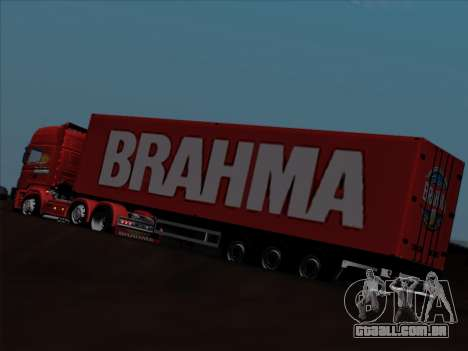 Trailer de Scania R620 Brahma para GTA San Andreas vista inferior