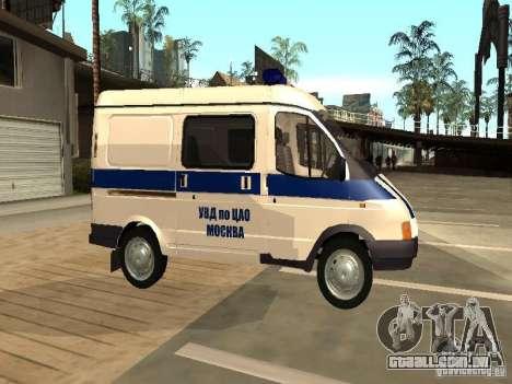GAZ 2217 Sobol polícia para GTA San Andreas esquerda vista