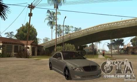 Mercedes Benz Panorama 2011 para GTA San Andreas vista traseira