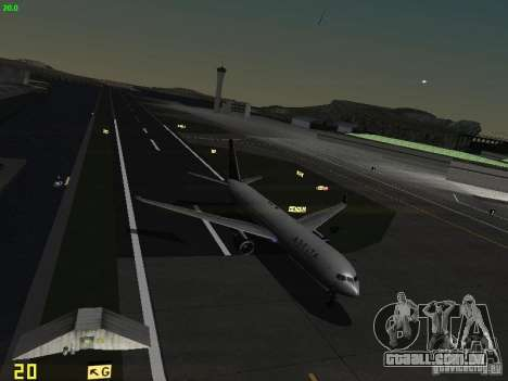 Boeing 767-400ER Delta Airlines para GTA San Andreas vista superior