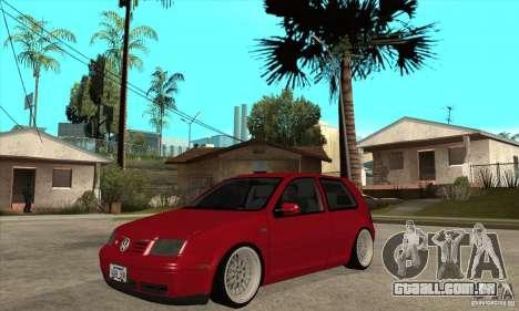 VW Golf 4 V6 Bolf para GTA San Andreas