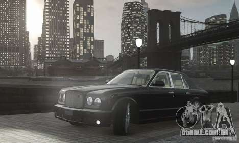 Bentley Arnage T v 2.0 para GTA 4 vista interior
