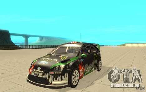 Ford Focus RS WRC 08 para GTA San Andreas vista interior
