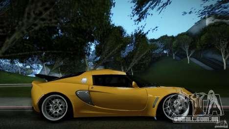 Lotus Exige Track Car para GTA San Andreas esquerda vista