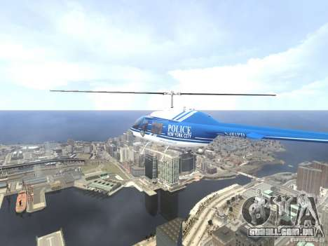Bell 206 B - NYPD para GTA 4 interior