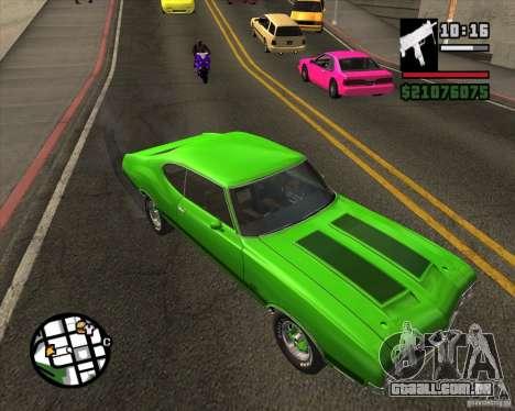 Oldsmobile 442 (fixed version) para GTA San Andreas vista direita