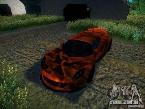 Hennessey Venom GT Spyder para GTA San Andreas vista superior