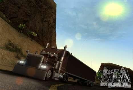 Trailer de Freightliner clássico XL Custom para GTA San Andreas esquerda vista