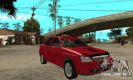 Lada Priora para GTA San Andreas vista traseira