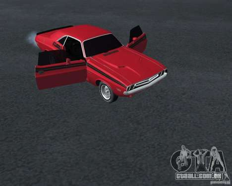 Dodge Chellenger V2.0 para GTA San Andreas vista direita