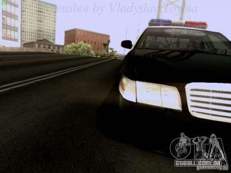 Ford Crown Victoria Los Angeles Police para GTA San Andreas vista traseira