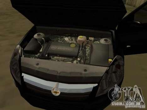 Chevrolet Vectra Elite 2.0 para GTA San Andreas vista superior
