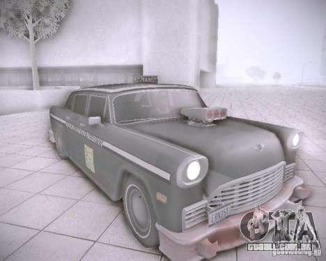 Diablo Cabbie HD para GTA San Andreas esquerda vista