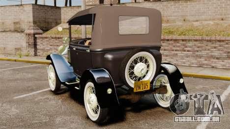 Ford Model T 1924 para GTA 4 traseira esquerda vista