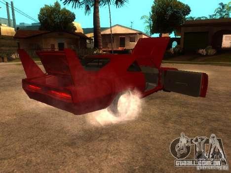 Dodge Charger Daytona Fast & Furious 6 para GTA San Andreas vista superior