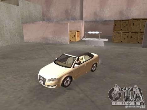 Audi A4 Convertible v2 para GTA San Andreas esquerda vista