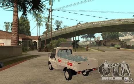 Ford Transit Pickup 2008 para GTA San Andreas traseira esquerda vista