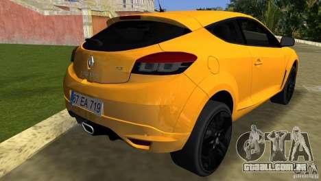 Renault Megane 3 Sport para GTA Vice City vista traseira esquerda