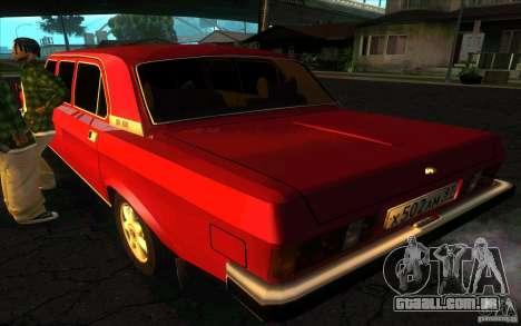 GAZ 3102 Volga Limousine para GTA San Andreas esquerda vista