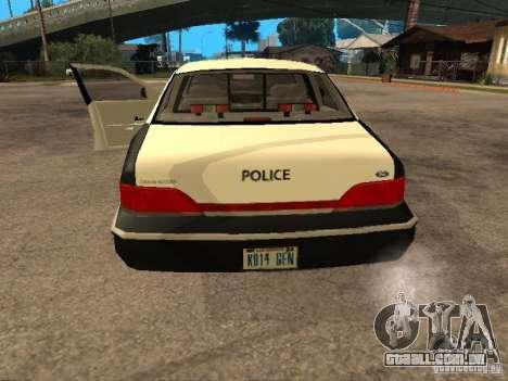 Ford Crown Victoria 1994 Police para GTA San Andreas vista traseira