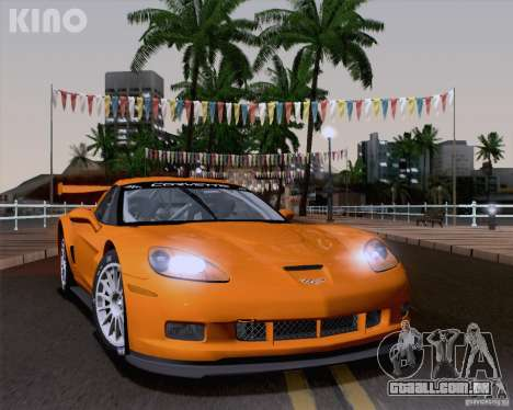 Chevrolet Corvette C6 Z06R GT3 v1.0.1 para GTA San Andreas traseira esquerda vista