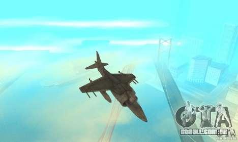 AV-8 Harrier para GTA San Andreas vista interior
