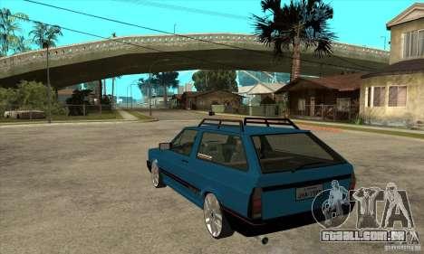 VW Parati GLS 1989 JHAcker edition para GTA San Andreas traseira esquerda vista
