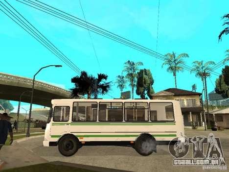 PAZ 3205 para GTA San Andreas esquerda vista