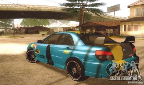 Subaru Impreza WRX STI Futou Battle para GTA San Andreas esquerda vista