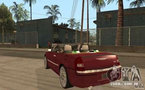 Chrysler 300c Roadster Part2 para GTA San Andreas traseira esquerda vista