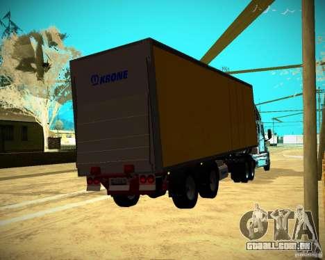 O reboque Krone Biedra para GTA San Andreas esquerda vista