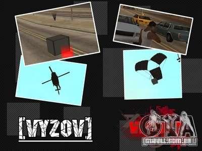 Chamar helicópteros com munições para GTA San Andreas
