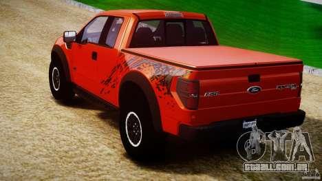 Ford F150 SVT Raptor 2011 para GTA 4 traseira esquerda vista