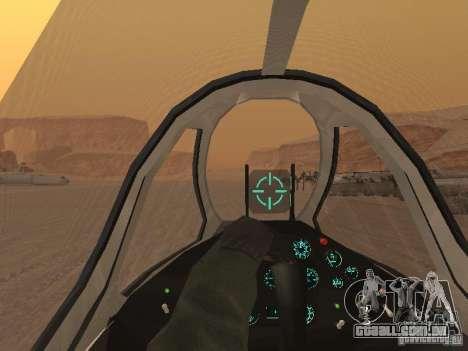 MiG-15 com armas para GTA San Andreas vista inferior