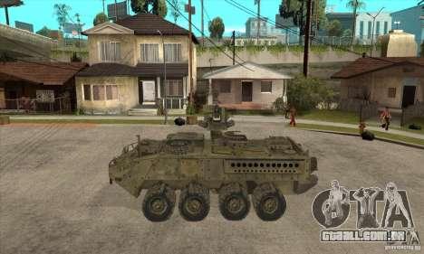 Stryker CDMW2 para GTA San Andreas esquerda vista