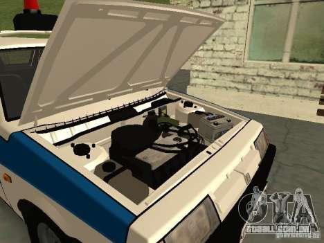 Polícia de 2109 VAZ para GTA San Andreas vista traseira