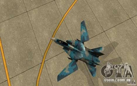 F-14 Tomcat Blue Camo Skin para GTA San Andreas vista traseira