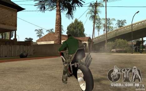 Streetfighter NRG 500 Snakehead v2 para GTA San Andreas traseira esquerda vista