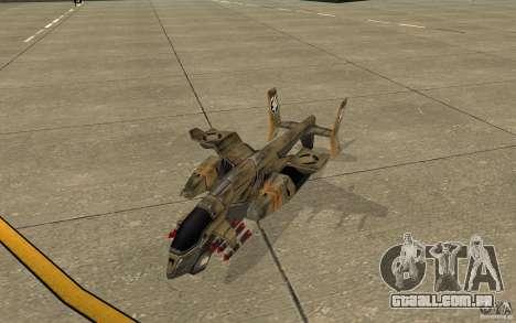 Orca ar comando e Conquer 3 para GTA San Andreas esquerda vista