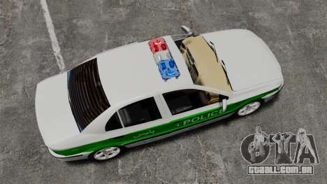 Iran Khodro Samand LX Police para GTA 4 vista direita