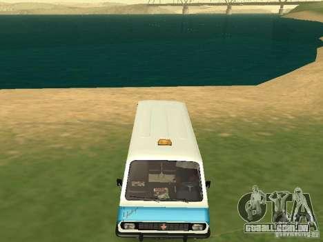 RAF 2203 CR v. 2 para GTA San Andreas vista traseira