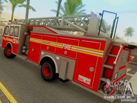 E-One FDNY Ladder 291 para GTA San Andreas esquerda vista