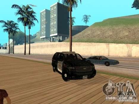 Chevrolet Tahoe Ontario Highway Police para GTA San Andreas esquerda vista